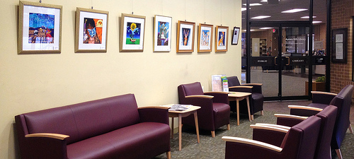Aurora Hills Branch Library gallery space