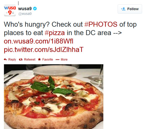 I think @WUSA9 does great news sharing on twitter, but they also use unnecessary hashtags.