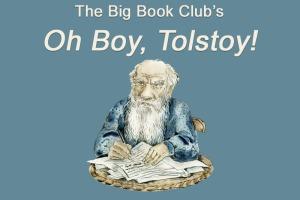 Caricature portrait of Leo Tolstoy